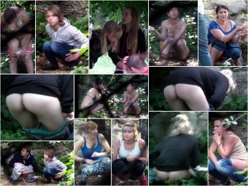 Russian Girls Pee in the Woods 8