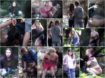 Russian Girls Pee in the Woods 10