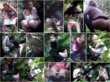 Russian Girls Pee in the Woods 16