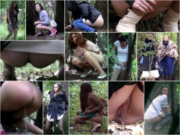Russian Girls Pee in the Woods 37