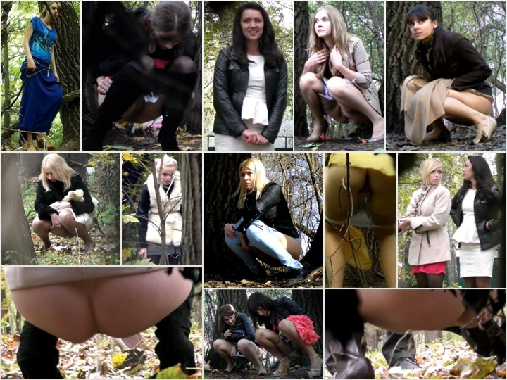 Russian Girls Pee in the Woods 38