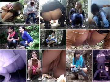 Russian Girls Pee in the Woods 41-42
